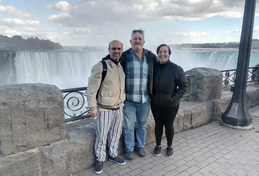 Cascata del Niagara con il nostro amico Jeavons Guy